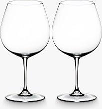 RIEDEL Vinum Pinot Noir Red Wine Glasses, Set of 2