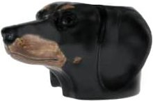 Rigby & Mac - Hand Painted Dachshund Egg Cup By