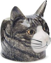 Rigby & Mac - Hand Painted Grey Cat Egg Cup By