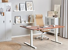 Right Corner Desk Dark Wood Tabletop 160 x 110 cm