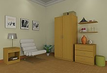 Right Deals UK Panama 3 Piece Bedroom Furniture