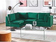 Right Hand 4 Seater Modular Velvet Corner Sofa