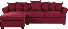 Right Hand Corner Sofa Dark Red VIKNA