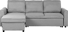 Right Hand Fabric Corner Sofa Bed with Storage