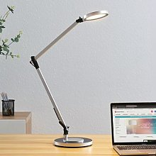 Rilana LED desk lamp with dimmer, silver