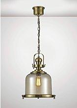 Riley Single Medium Bell Pendant Lamp 1 Bulb E27