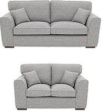 Rio 3-Seater + 2-Seater Standard Back Fabric Sofa