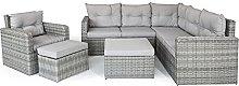Rio Grey Garden Corner Sofa with Armchair and