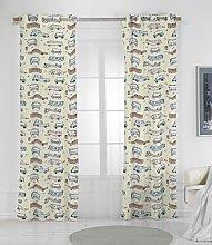 RIOMA Chitty Curtain, Fabric, Beige, 270x 140x