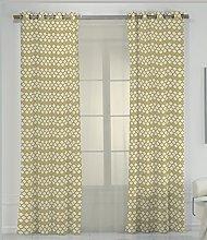 RIOMA Saten Curtain, Fabric, Yellow, 270x 140x