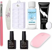 Rion Nail Extension Gel Kit 15ml Pink Clear Colors