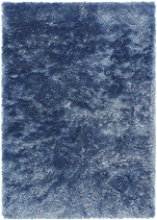 Ripley Glamour Rug in Blue with Shimmer - 170x120cm