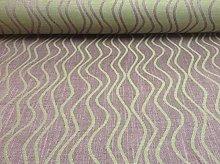 Ripple Linen Aubergine by Swaffer Curtain Fabric