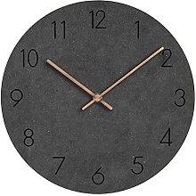 RIQWOUQT Wall Clock Dark Gray Kitchen Modern