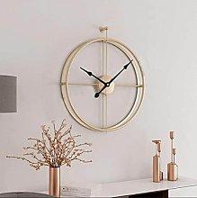 RIQWOUQT Wall Clock Gold Black Nordic Wall Clock