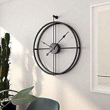 RIQWOUQT Wall Clock Ink Black Nordic Wall Clock
