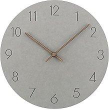 RIQWOUQT Wall Clock Light Gray Kitchen Modern