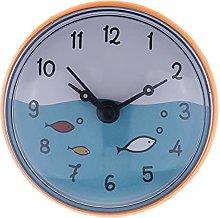 RIQWOUQT Wall Clock Orange Simple 2.95 Inch Mini
