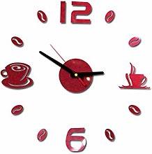 RIQWOUQT Wall Clock Red Led Wall Clock Digital