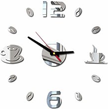RIQWOUQT Wall Clock Silver Led Wall Clock Digital