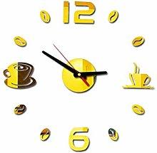 RIQWOUQT Wall Clock Yellow Led Wall Clock Digital