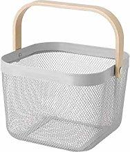 RISATORP Basket White, Green, Grey (Dark Grey)