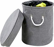 rismart Toy Storage Basket Drawstring Canvas