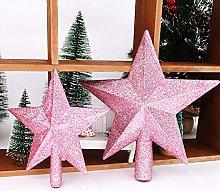 RIsxffp Glitter Five-pointed Star Christmas Tree