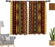RityoDecor Tribal Window Curtains, African Culture