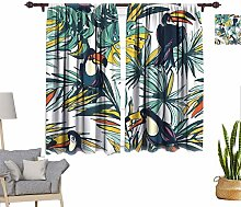 RityoDecor Tropical Window Curtains, Floral Summer
