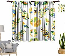 RityoDecor Tropical Window Curtains, Fruits