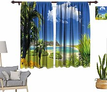 RityoDecor Tropical Window Curtains, Paradise