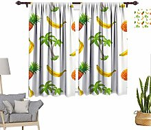 RityoDecor Tropical Window Curtains, Watercolor