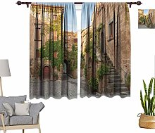RityoDecor Tuscan Window Curtains, Village Houses