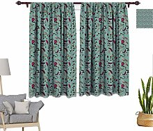 RityoDecor Vintage Window Curtains, Drawing Style