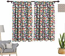 RityoDecor Vintage Window Curtains, Vintage 80s