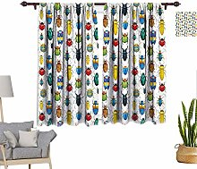 RityoDecor Watercolor Window Curtains, Colorful