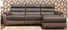 Ritz Corner Leather And Fabric Sofa Available In