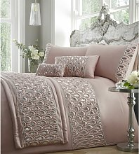 Ritz Sequined Diamante Embellished Pink Quilted