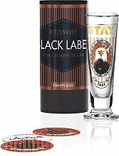 RITZENHOFF 1060248 Black Label Shot Glass, Glass,