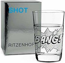 RITZENHOFF 3560010 Shot Glass, Platinum, Black