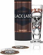 RITZENHOFF Black Label 1060247 Shot Glass, Glass,