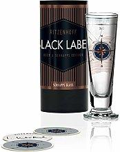 Ritzenhoff Black Label Shot Glass by Iris