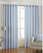 Riva Home Fiji Faux Silk Eyelet Lined Curtains,