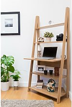 Riva Ladder Bookcase with 5 Tier Shelves &