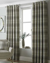 Riva Paoletti Aviemore Eyelet Curtains, Beige, 46