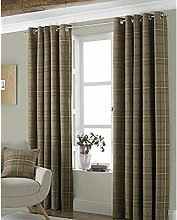 Riva Paoletti Aviemore Eyelet Curtains, Brown, 46