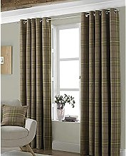 Riva Paoletti Aviemore Eyelet Curtains, Brown, 66