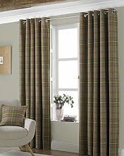 Riva Paoletti Aviemore Eyelet Curtains, Brown, 90