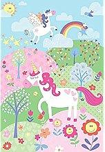 Riva Paoletti Unicorn Pink Wall Art 158x232cm,